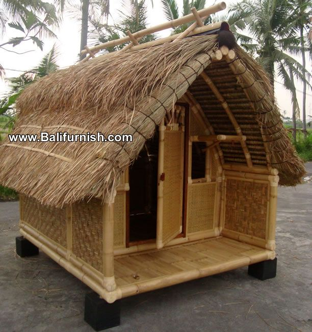 Bali Bamboo Huts Bamboo House Bamboo Roof Hut House