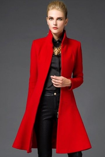 Manteau hiver femme col montant
