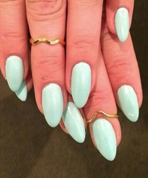 Mint Green Almond Nails M Kathleenpearl12 Mint Green Nails Green Acrylic Nails Mint Acrylic Nails