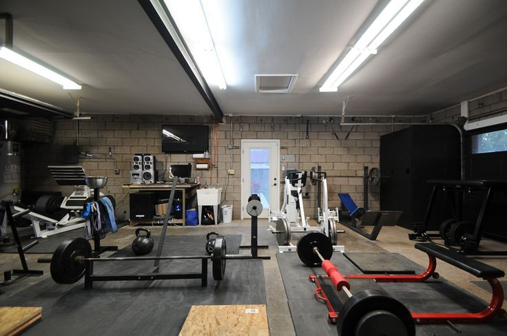 Garage gym obviously smaller but the floor etc looks good home