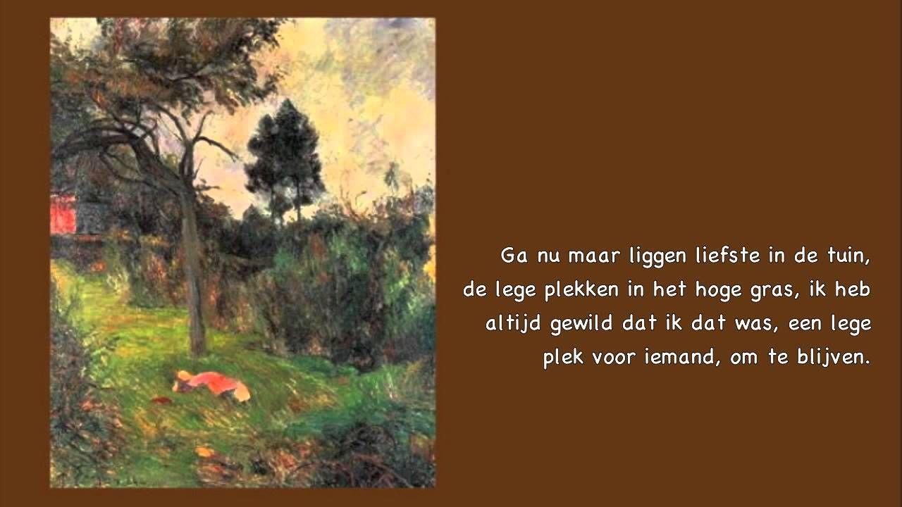 Rutger Kopland - gedicht - Ga nu maar liggen liefste