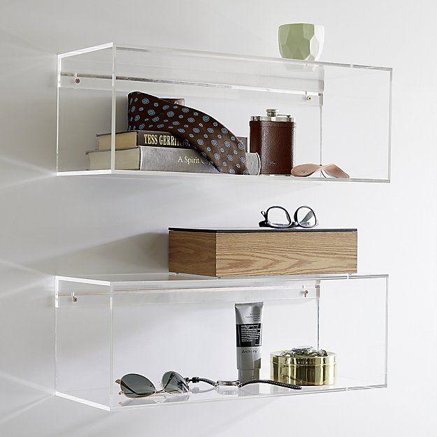 Acrylic Storage Shelf Cb2 Acrylic Decor Acrylic Shelf