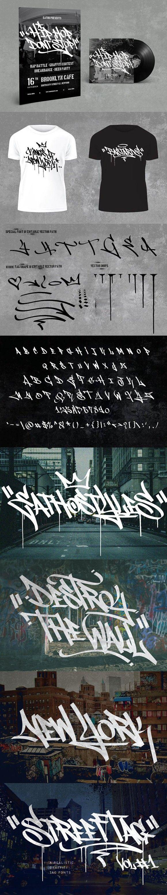 Graffiti font street tag vol1