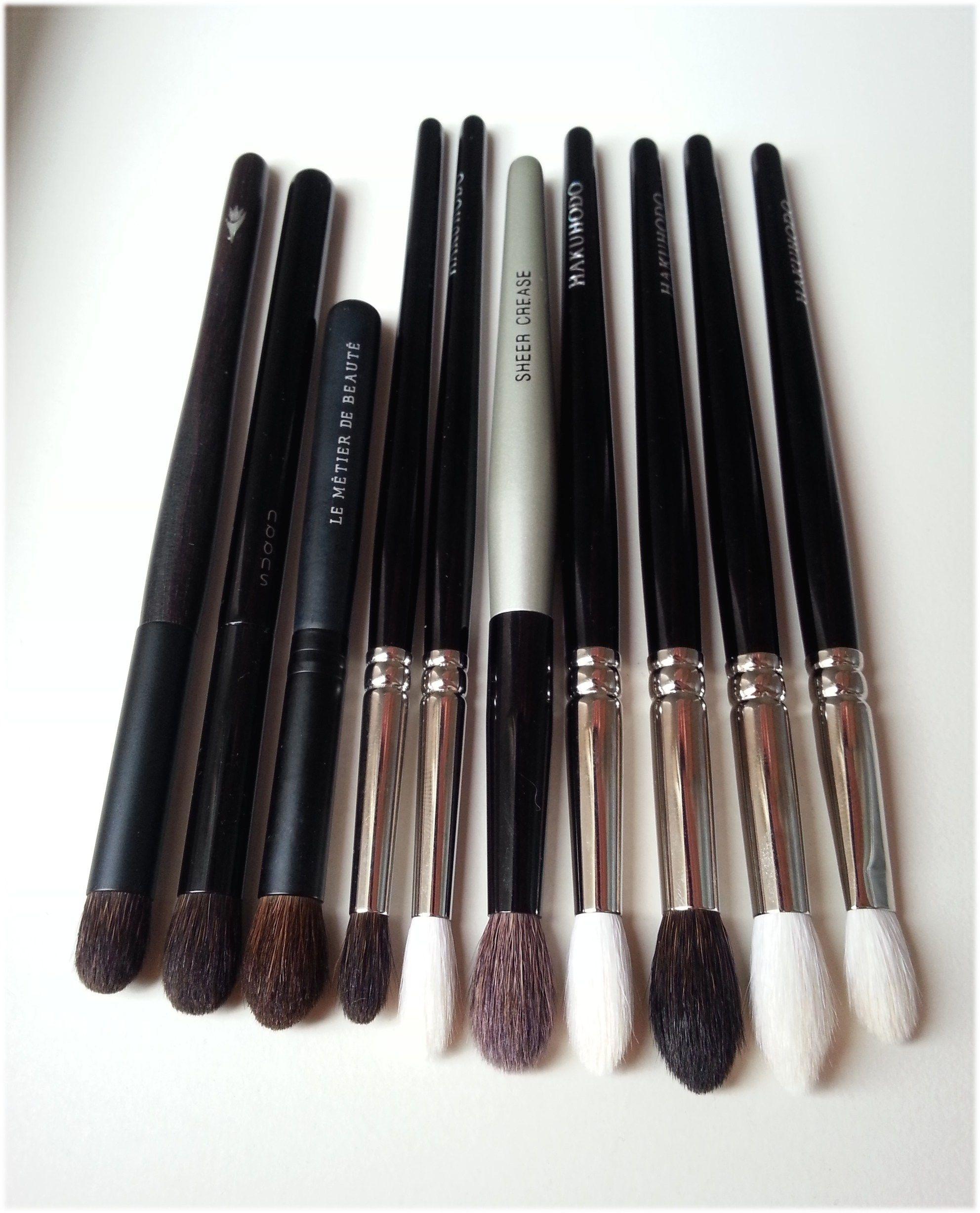 My favourite eyeshadow blending brushes Hakuhodo, Suqqu