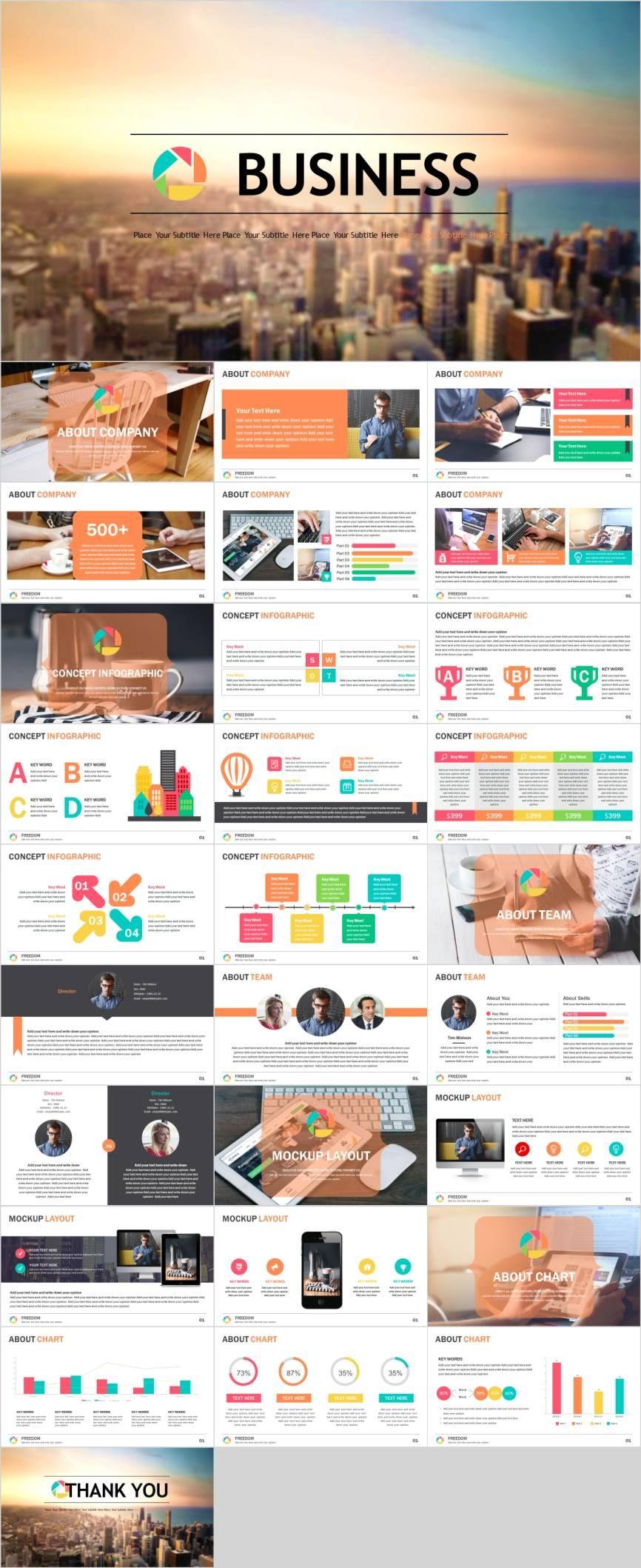 Project analysisPowerPoint template