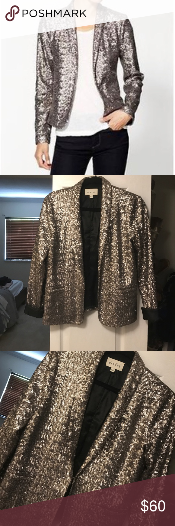 96fc81b42887df Sabine Sequin Blazer - Silver Pewter Sabine Sequin Blazer All over sequin  blazer Silver Pewter