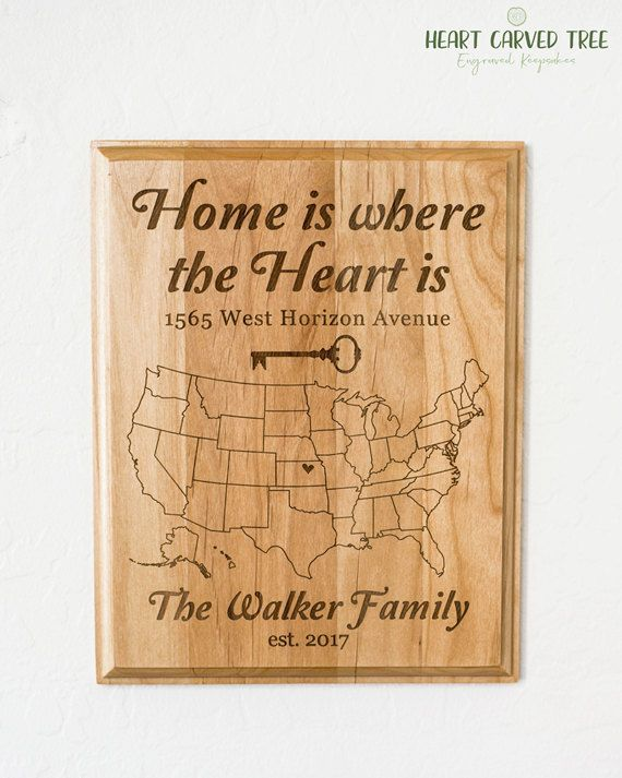Wooden Personalised Friend Family New Home//House Warming Decor Gift Plaque//Sign