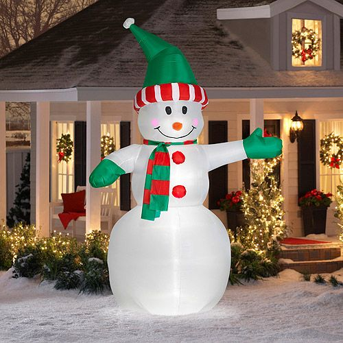 12\u0027 Tall Airblown Snowman Giant Christmas Inflatable Airblown