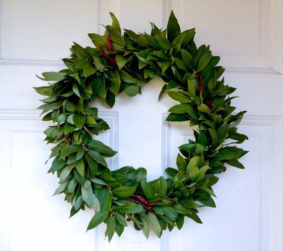 Bay Laurel Wreath by HighCascadeWreaths on Etsy, $25.00
