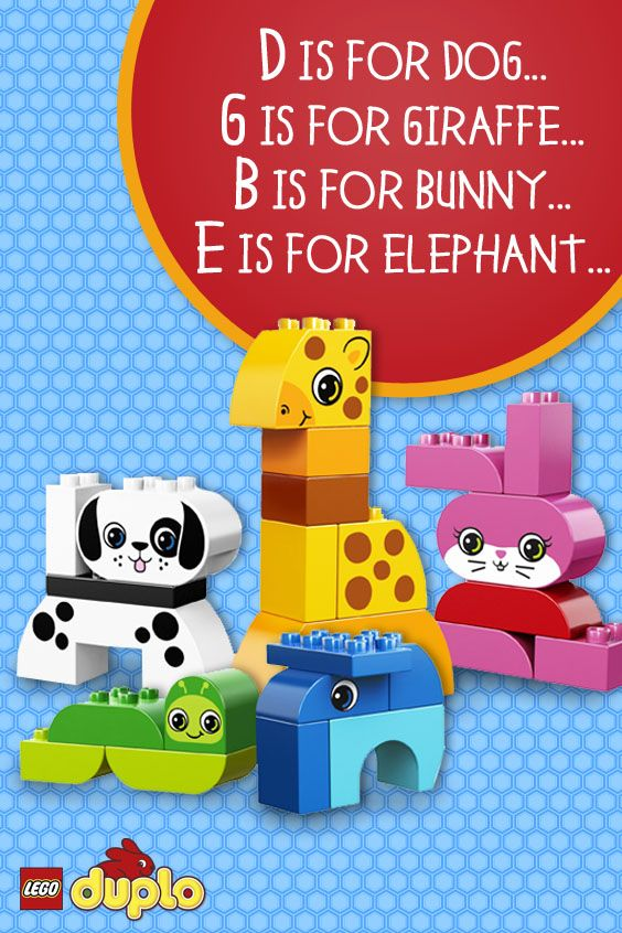 LEGO DUPLO Creative Animals helps your toddler learn shapes and colors and includes easy-to-build elephant, dog, giraffe, worm and bunny. Build and rebuild for hours of animal fun!