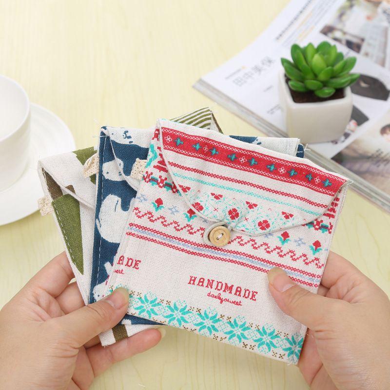 1 Pcs Cute High Capacity Sanitary Napkin Tampon Storage Bag Admission Package Cotton Pantiliner