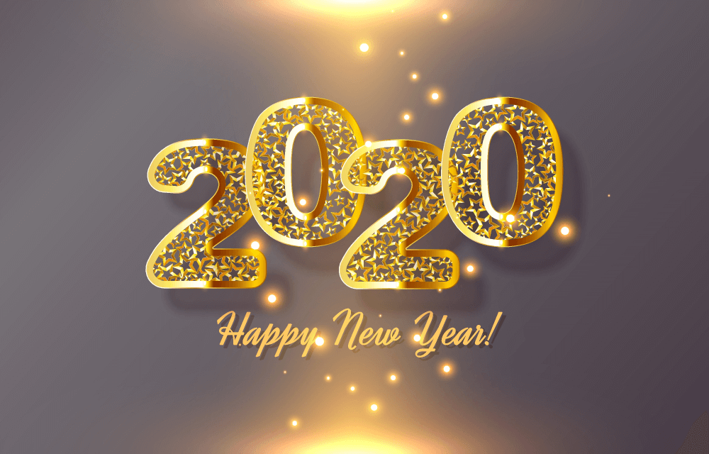 Greeting Card Happy New Year Background 2021