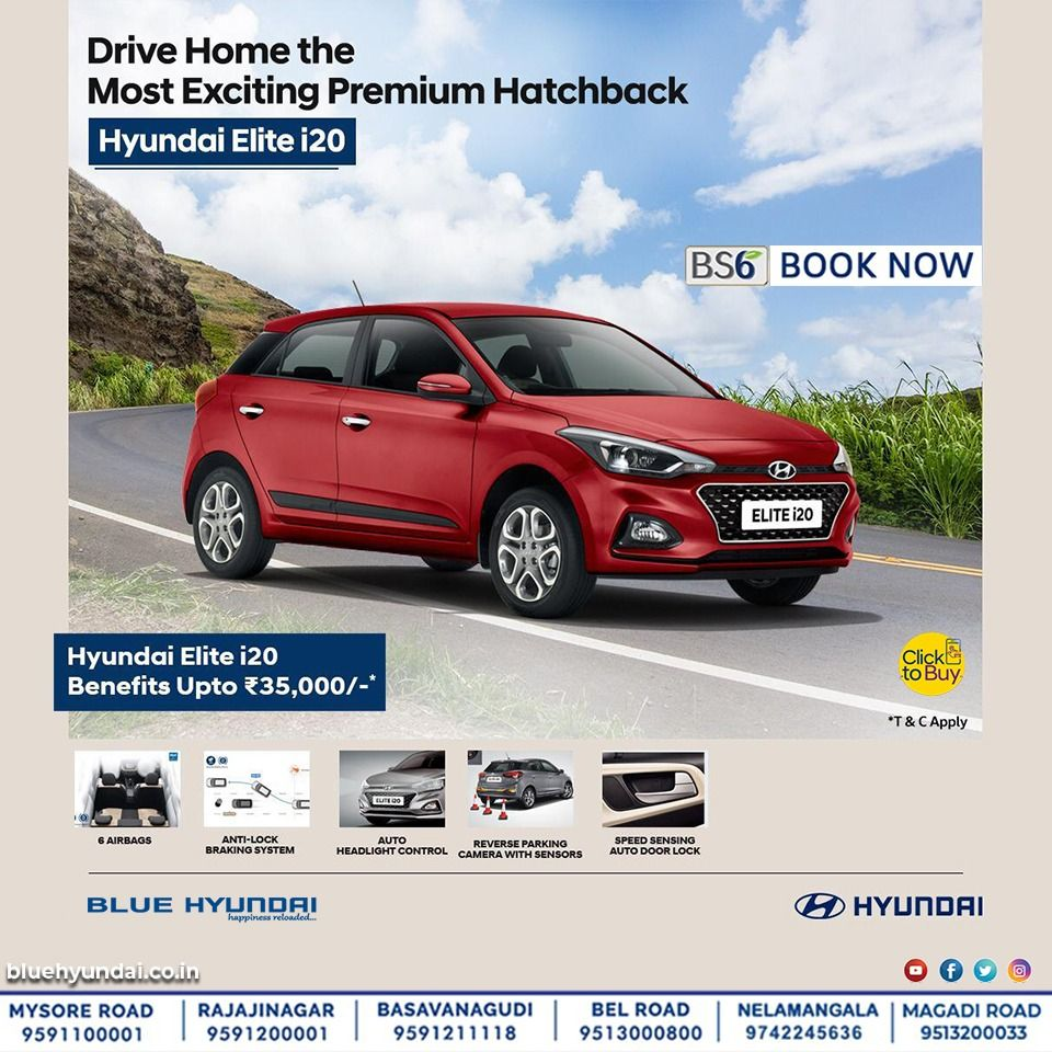 Drive Home The Most Exciting Premium Hatchback Hyundai Elite I20