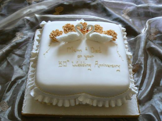 50th Wedding Anniversary Cakes Designs