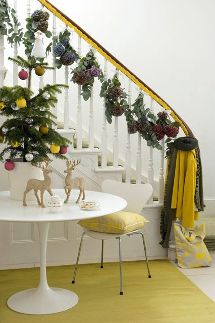 Christmas Decorating Ideas Banister - Trees u0026 Fairy Lights (houseandgarden.co.uk) : christmas decorating ideas for banisters - www.pureclipart.com