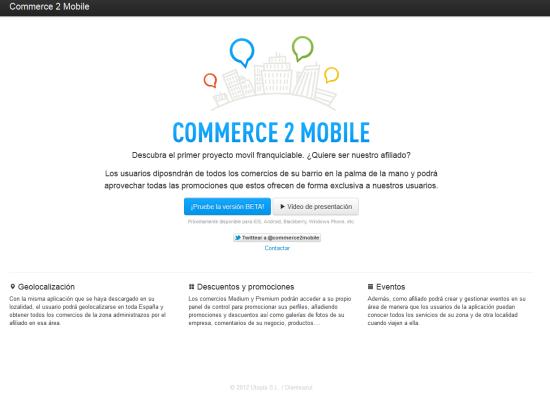 Commerce2mobile #Eurekas! Proyectos de I+D+i mobile para el desarrollo y dinamización del pequeño comercio