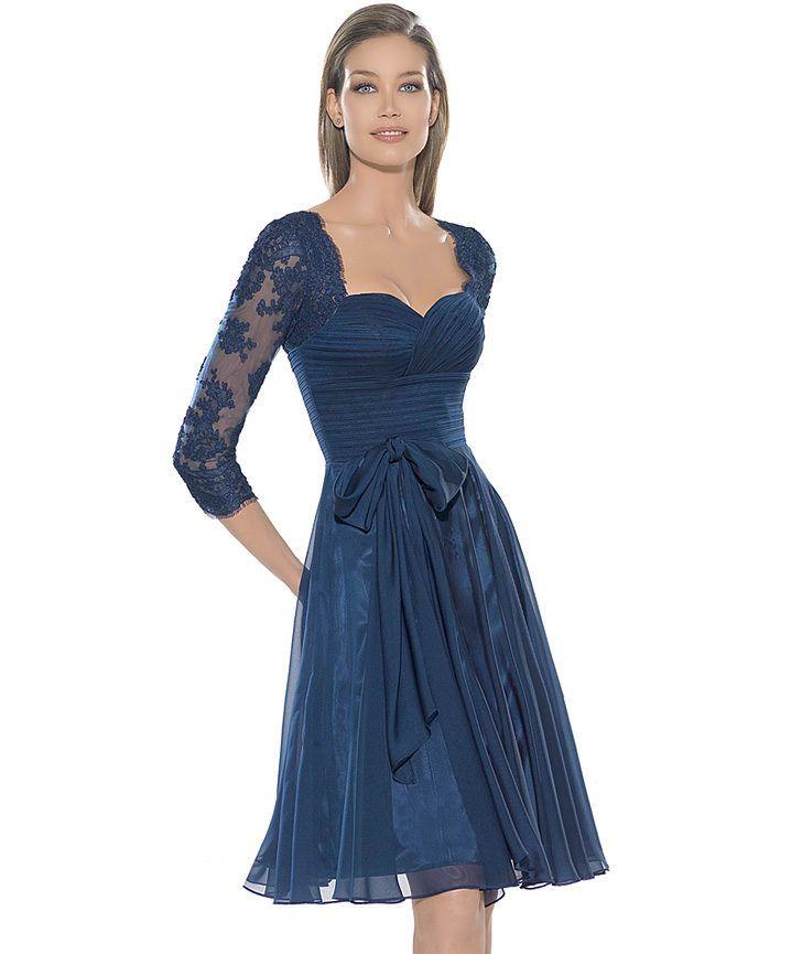 572b92d378 Vestidos elegantes circular azul