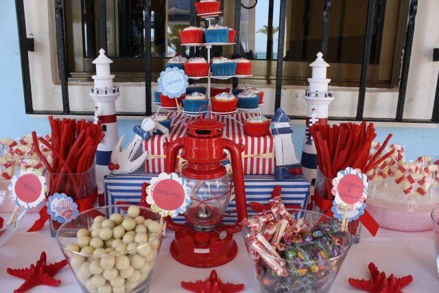 Mesa de dulces marinera bubblykido candy marinero pinterest mesa de dulces dulces y mesas - Fiesta marinera decoracion ...