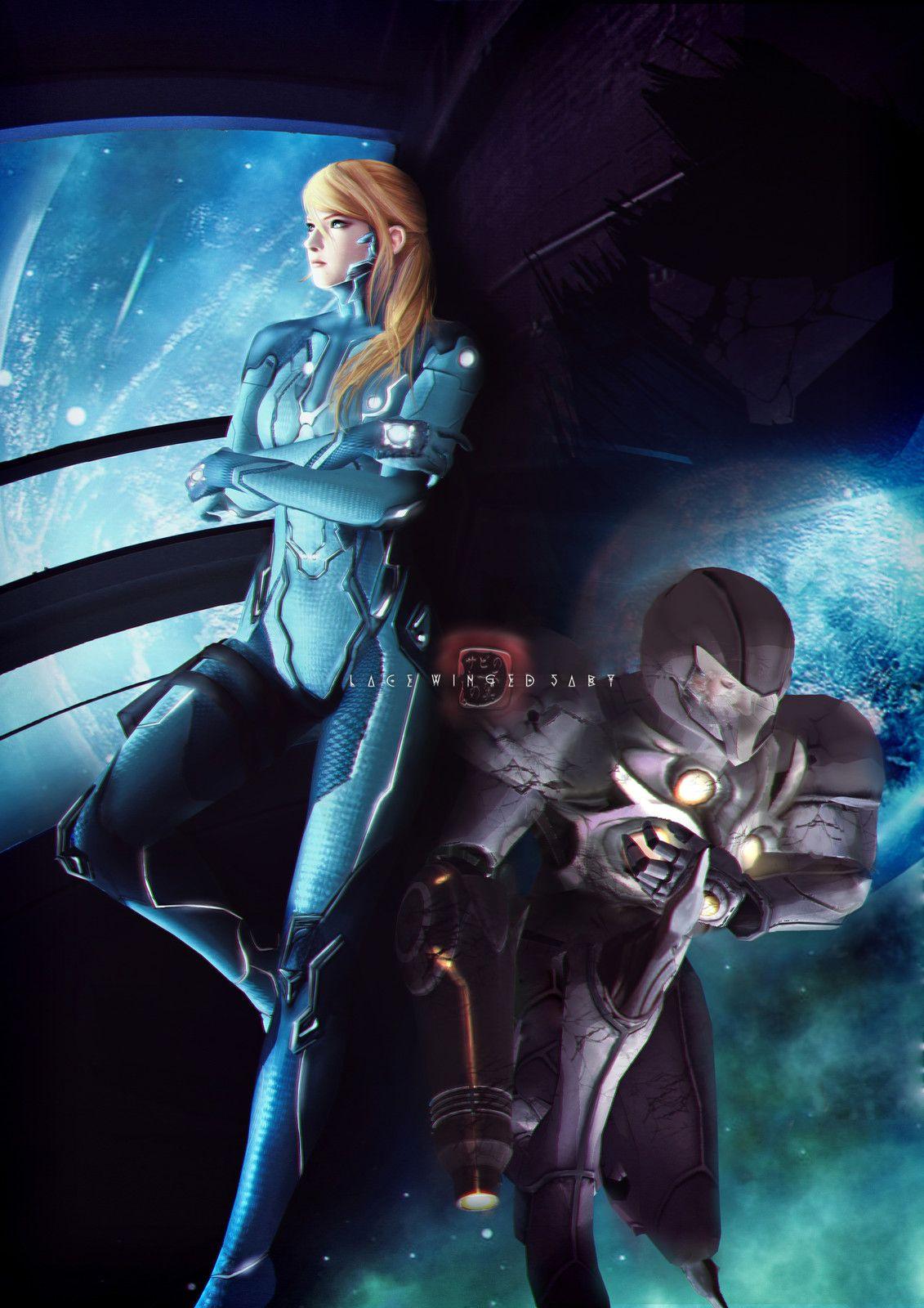Samus Aran [Metroid] - Commission, LaceWingedSaby サビのレースの翼