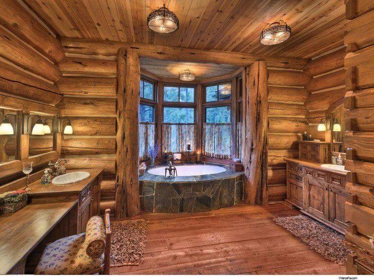 déco salle de bain bois | CHALETS et DECO de CHARME | Maison en ...