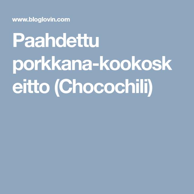 Paahdettu porkkana-kookoskeitto (Chocochili)
