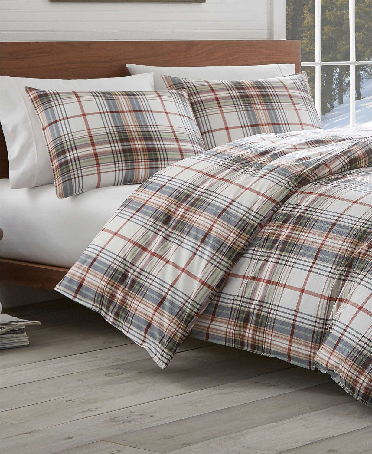Eddie Bauer Classic Plaid Red King Comforter Set Reviews