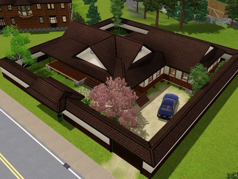 mod the sims the yomoshoto residence a traditional japanese house - Traditional Japanese Home Design