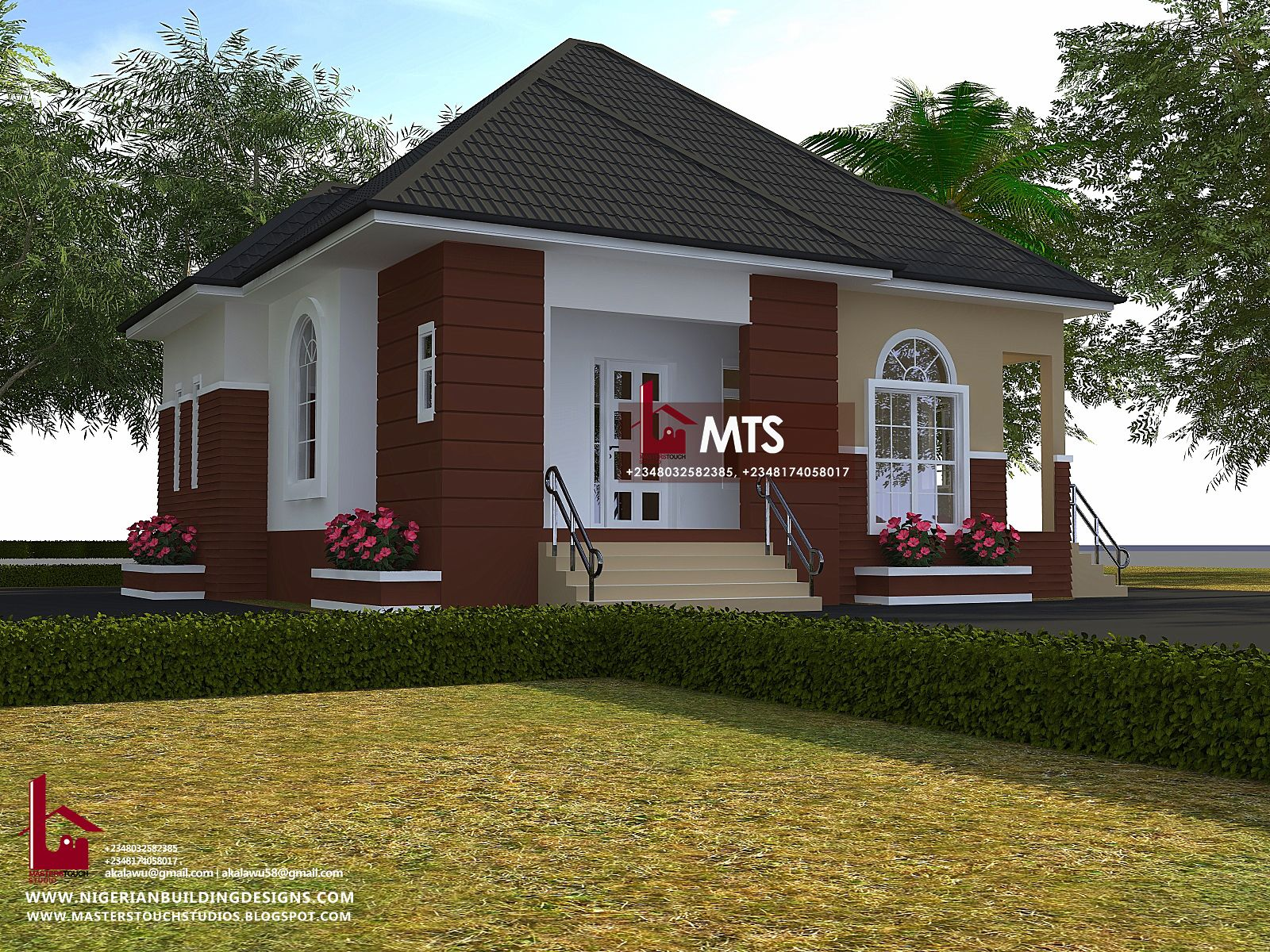 2 Bedroom Bungalow Rf 2002 In 2020 Bungalow Design Bungalow House Design Duplex House Design