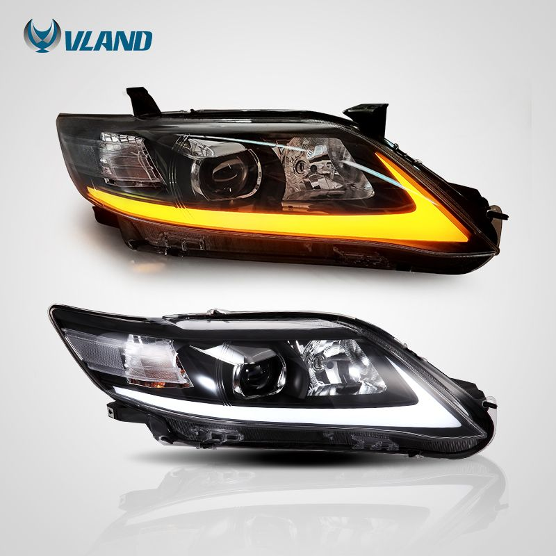 For Camry Us Led Angel Eye Headlight Head Lamp Vland Toyotacamryheadlight Toyotacamryhybridheadlights Camryhybridheadlight Toyotacamryheadlamp