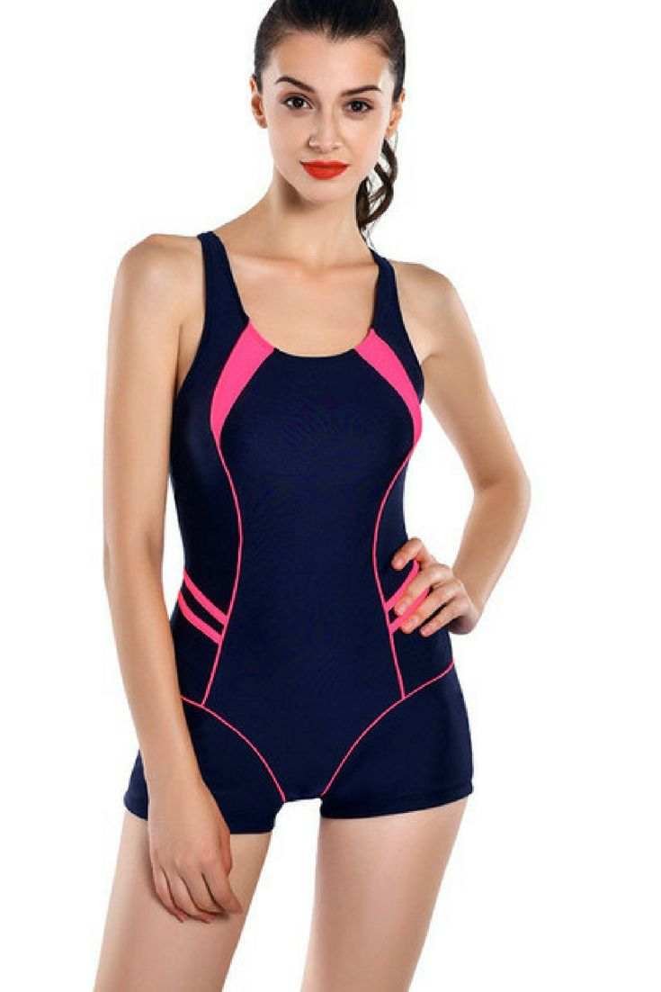 d9ad350dd501b Riseado 2018 Sports One Piece Swimsuits Brand Swimwear Women Shorts  Backless Bathing Suits Swimming Suit For Women. #affiliate