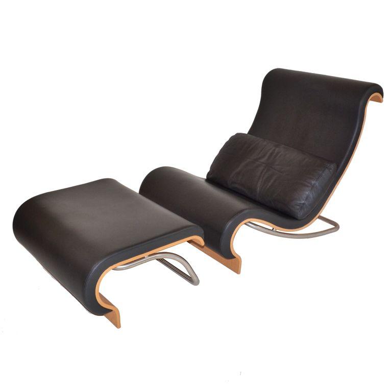 Aurora Reclining Chair & Footstool by Jørn Utzon   Clasicos