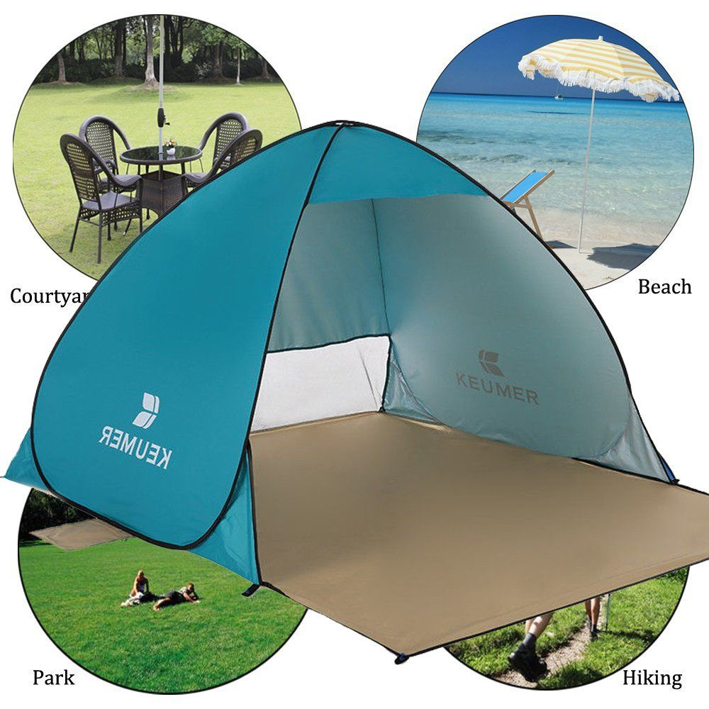 Parkside Wind Instant Pop Up Beach Tent Camping Sun Shelter Uv 34 Person Folding Waterproof Automatic Family Back Pop Up Beach Tent Backpacking Tent Beach Tent