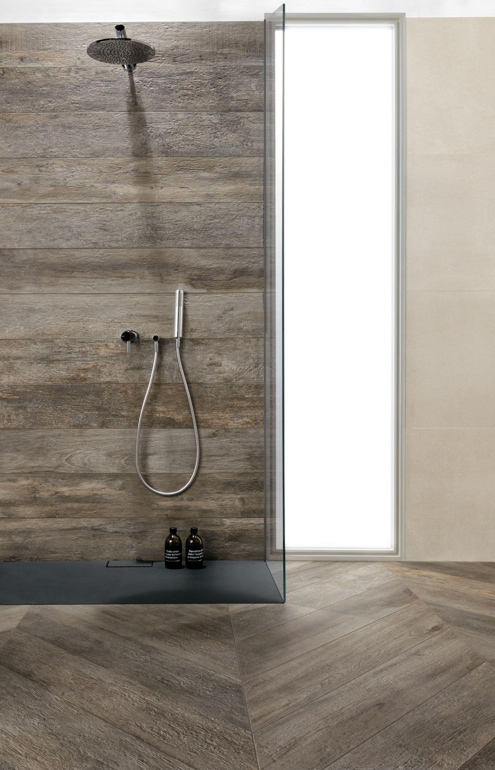 Grey Wood Effect Bathroom Wall Tiles