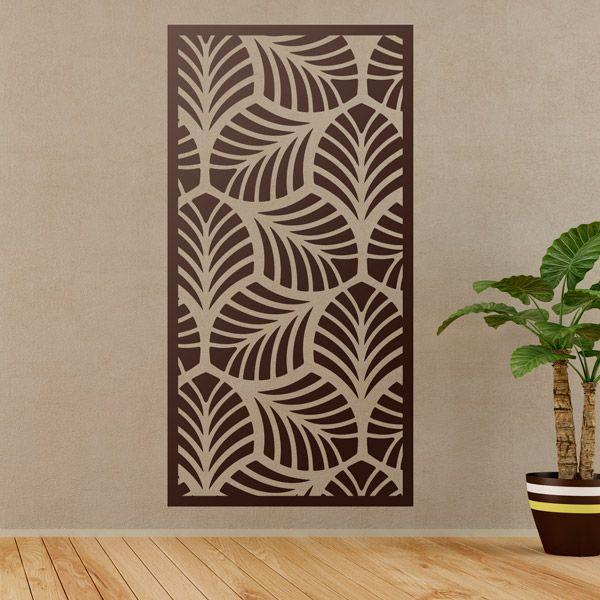 Vinilos decorativos l mina estampado ornamental de hojas - Laminas para decorar paredes ...