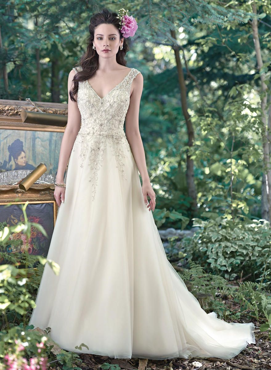 Maggie Bridal By Maggie Sottero Monier 6mt275 Maggie Sottero Couture Estelle S Dressy Dresses In Far Wedding Dresses A Line Wedding Dress Wedding Dress Styles [ 1200 x 880 Pixel ]