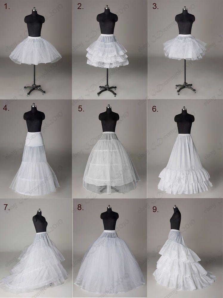 White Black Bridal Petticoat Crinoline Underskirt Hoop Hoopless Mermaid Fishtail Ebay Petticoat For Wedding Dress Crinoline Wedding Dress Wedding Skirt