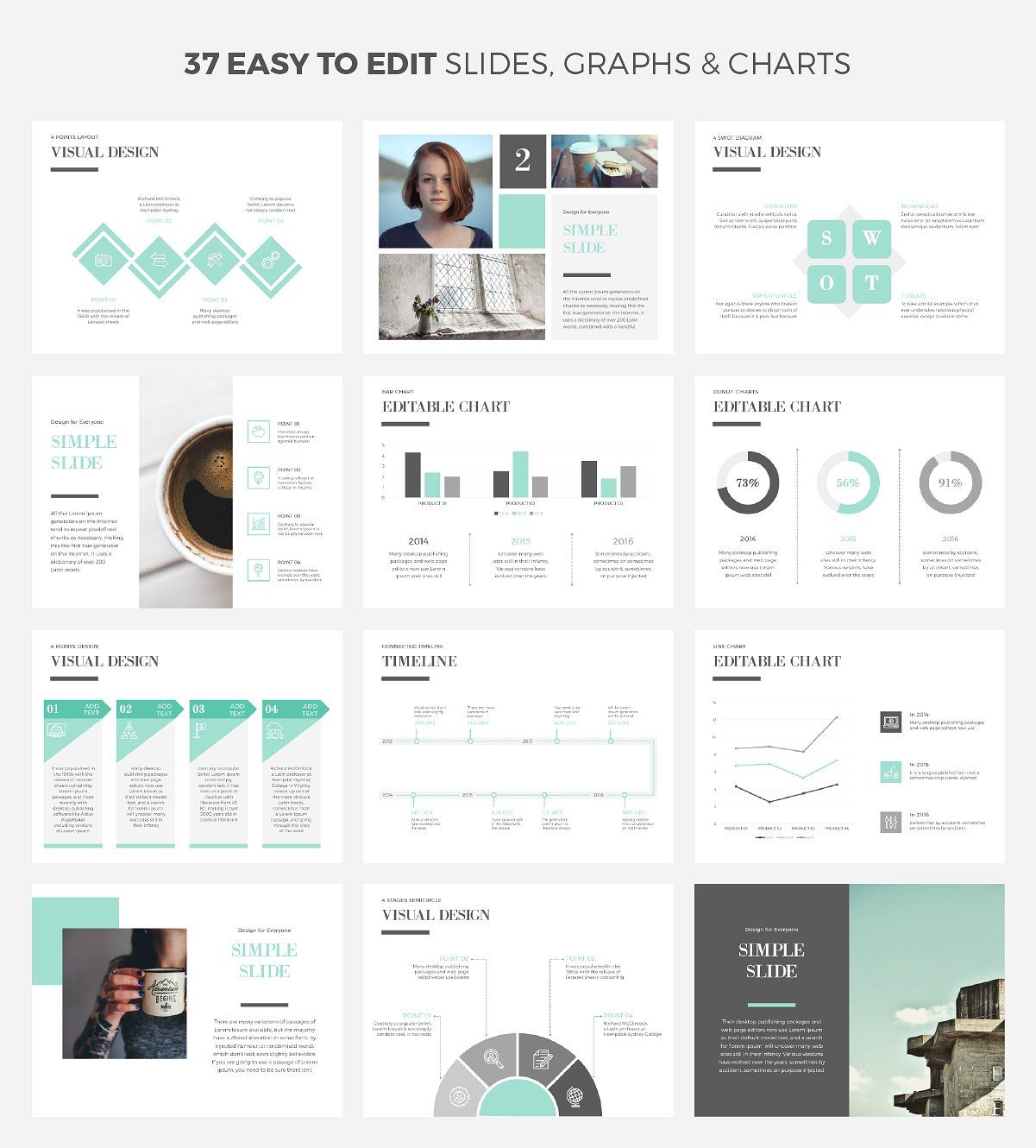 simple & cool powerpoint templatewipavee on @creativemarket, Modern powerpoint