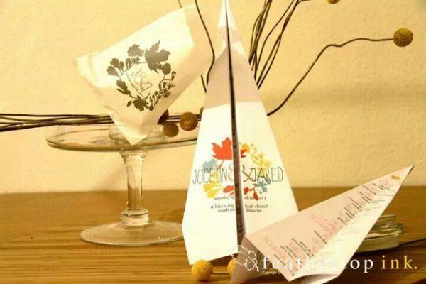 Paper plane | Wedding invites