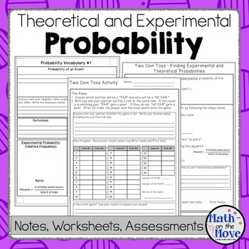 Probability Theoretical Experimental Notes Activities