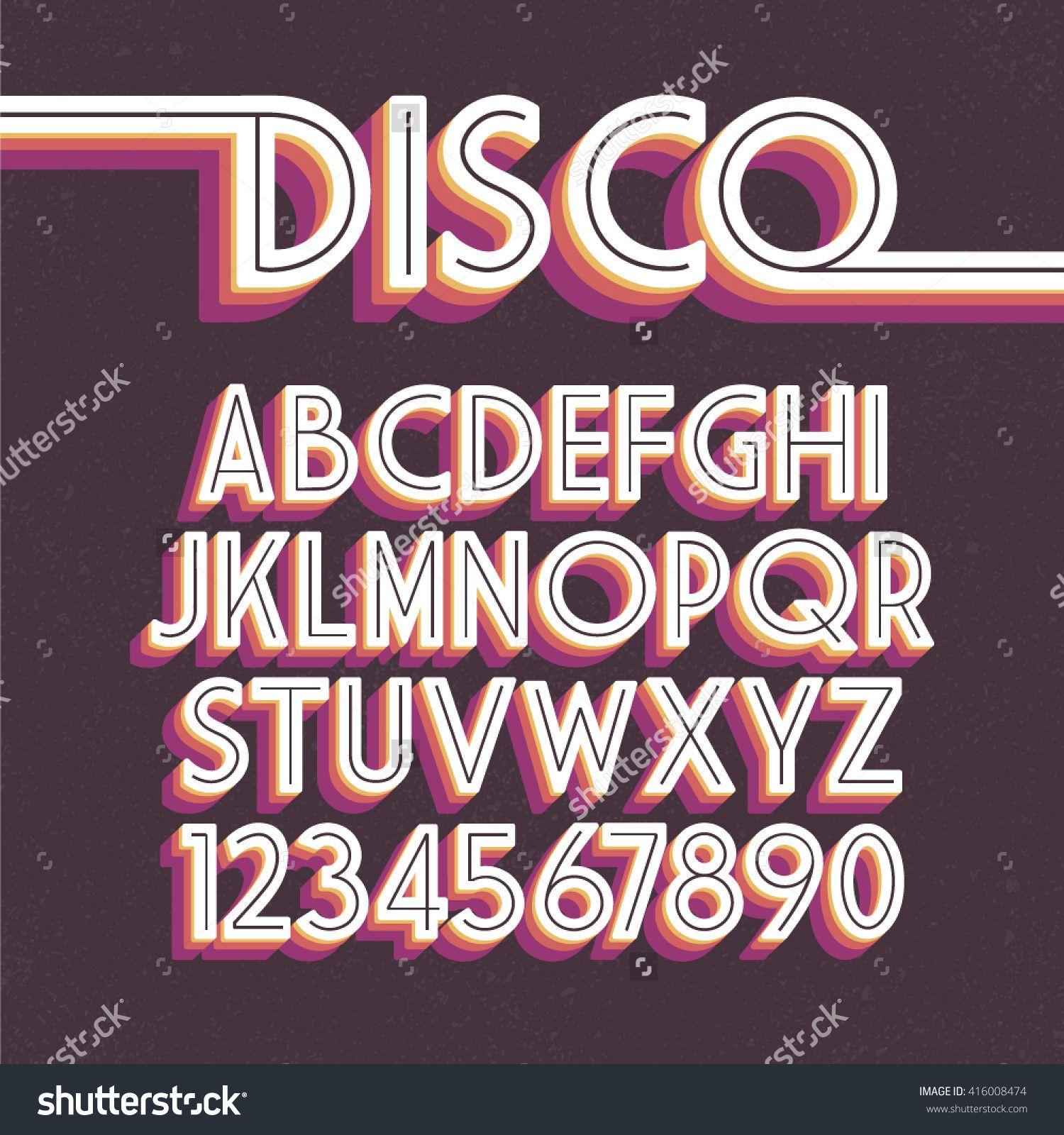 Image result for 80's disco font | Signage, Fonts | Retro font