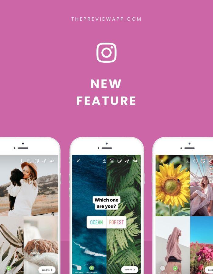 Instagram Story Photo Collage inside the Instagram App