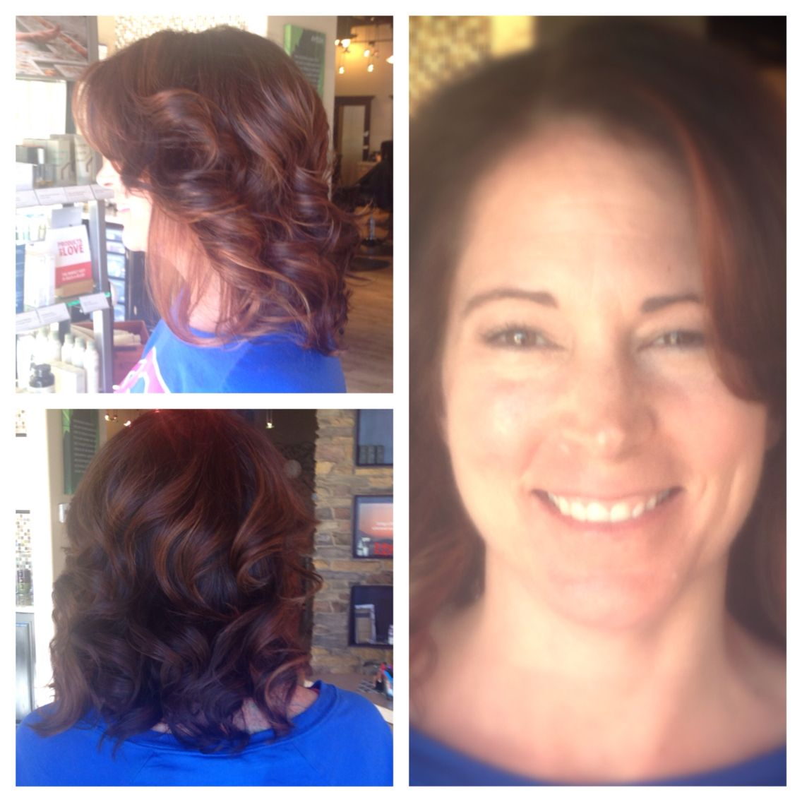 Started with a strong chocolate color and brightened her up with a #rosegold balayage