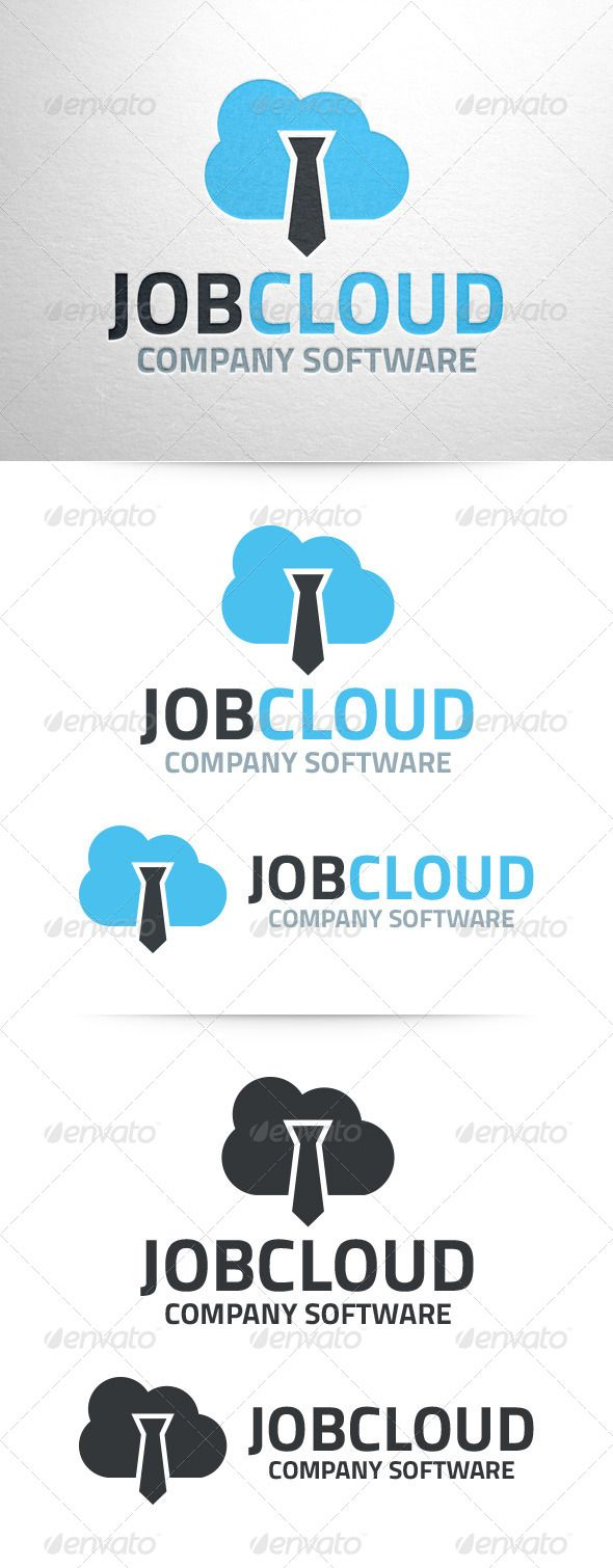 Job Cloud Logo Template