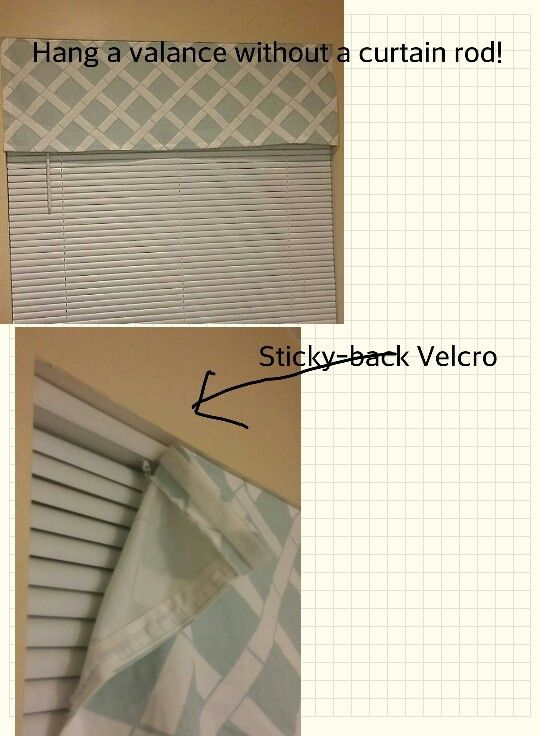 Beautiful Hang A Valance Without A Curtain Rod   Use Adhesive Velcro And Attach To Top