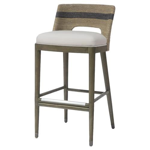 Swell Palecek Fritz Coastal Striped Grey Rope Counter Stool Pabps2019 Chair Design Images Pabps2019Com