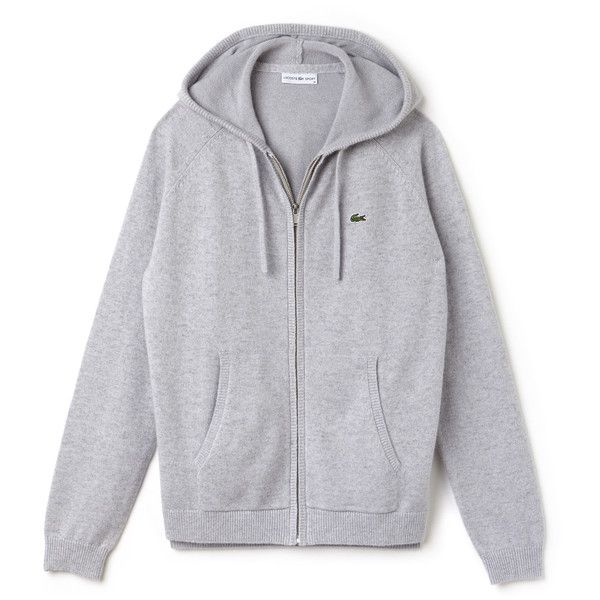 73caa615a4 Grey Women's Lacoste Sport Tennis Cashmere Jersey Zip Sweatshirt ...