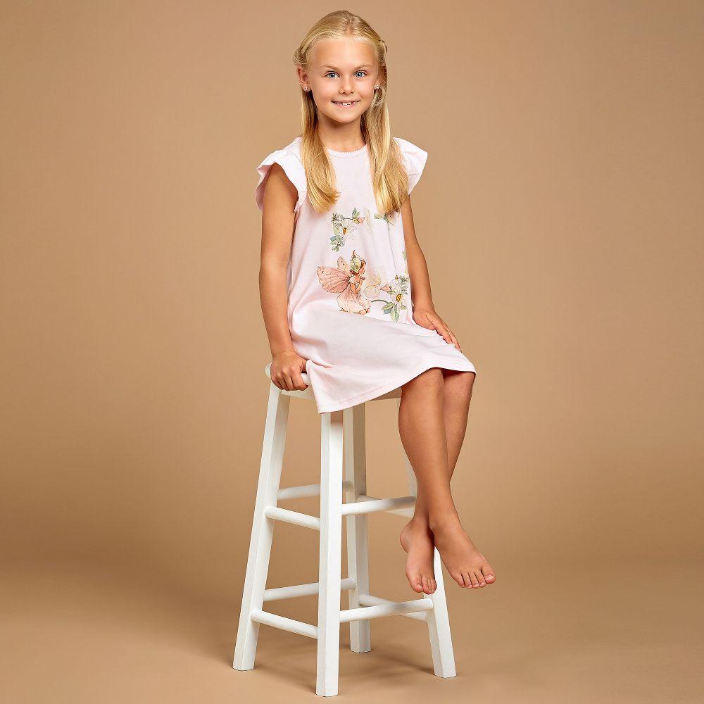 1fc2467629c Flower Fairies™ by Childrensalon - Girls Pink Cotton Nightdress ...
