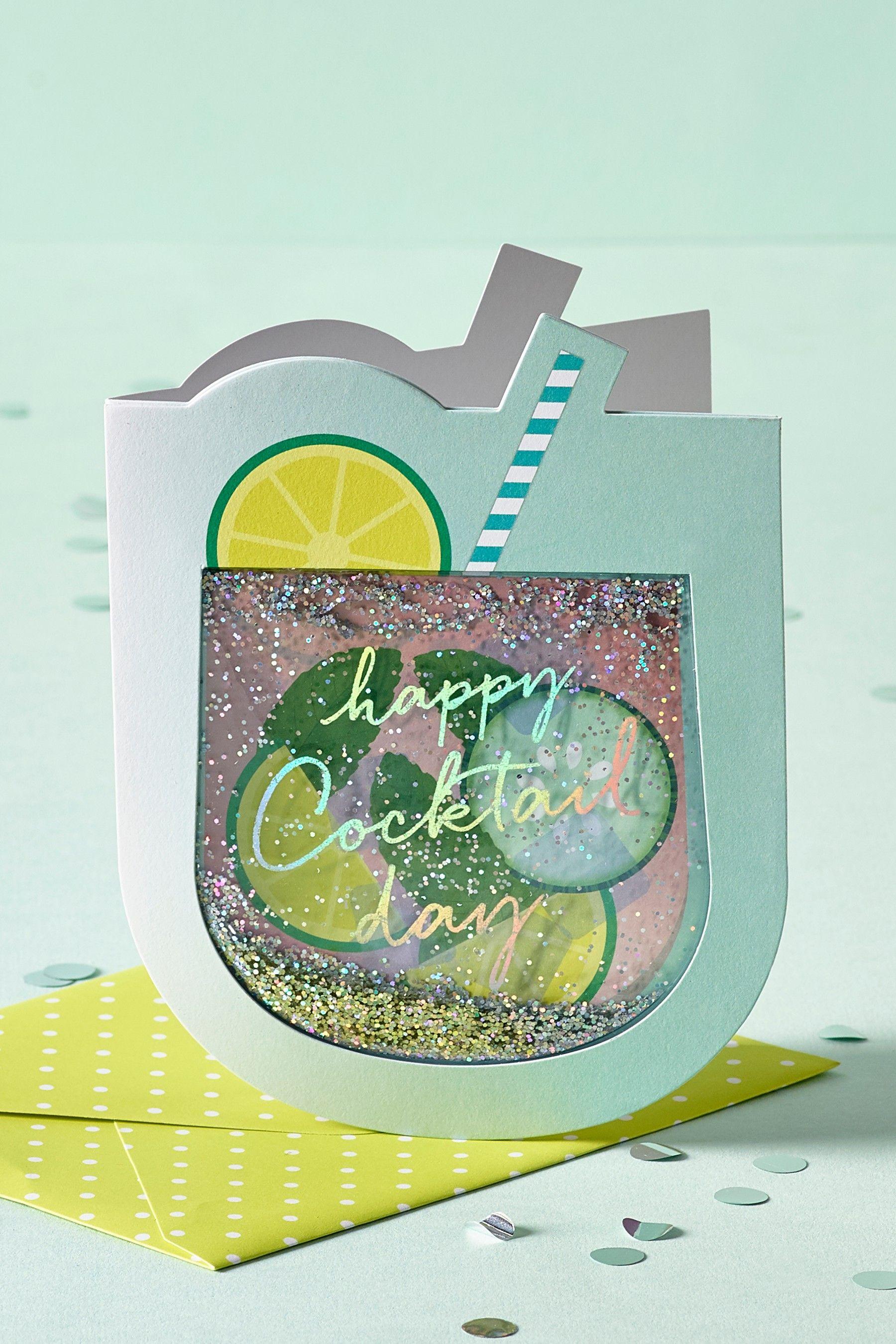 Next Cocktail Shaker Birthday Card Pink Birthday cards