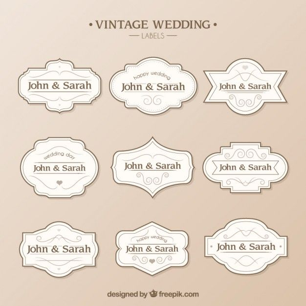 Wedding labels template Vector Free Download Bags, Tags, Boxes - label template