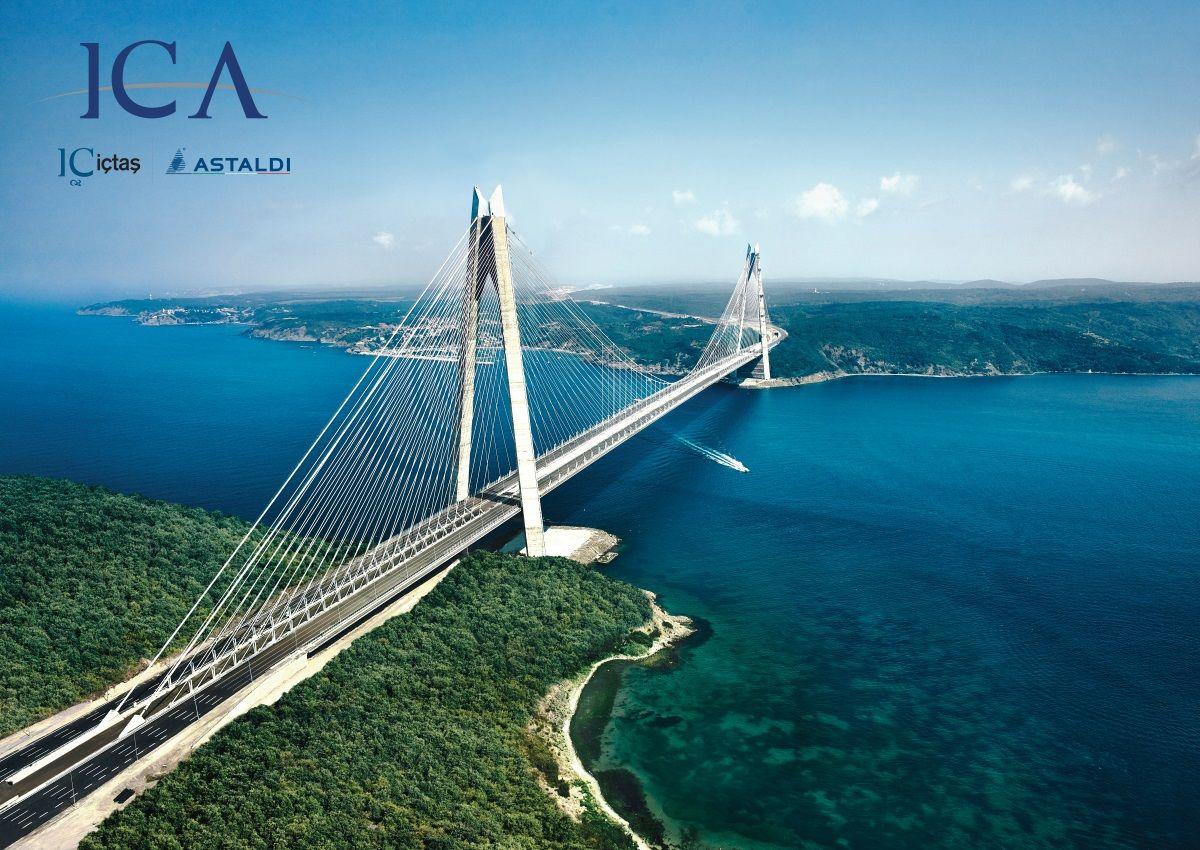 Third Bosphorus Bridge in Istanbul which opened a few days ago. [1200  850]